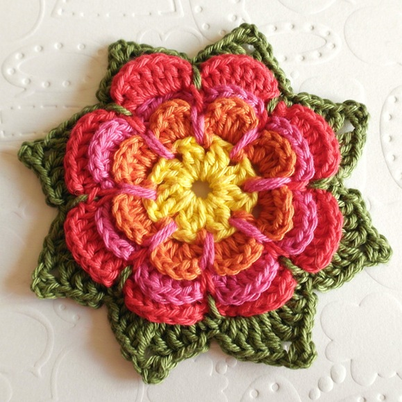 Free Pattern - Rainbow Flowers - Crochet