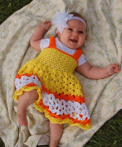 Free Pattern ? Sunshine Baby Dress ? Crochet