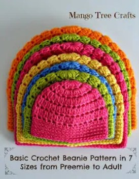 Quick Crochet Projects : ... Patterns - Basic Crochet Beanie In 7 Different Sizes Crochet