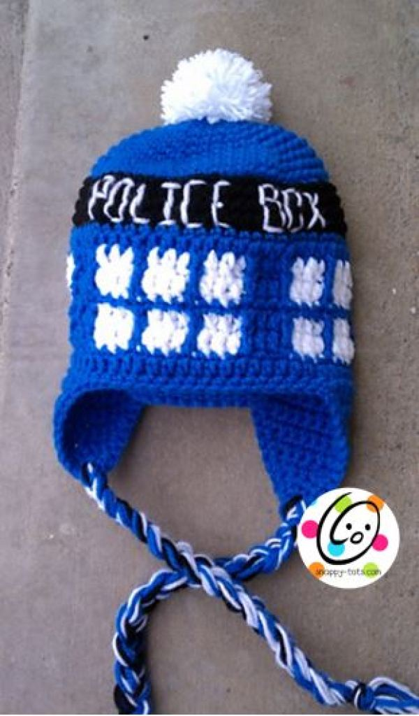 Free Crochet Pattern Tardis Hat : 8 Dr. Who Inspired Crochet Patterns ? Crochet