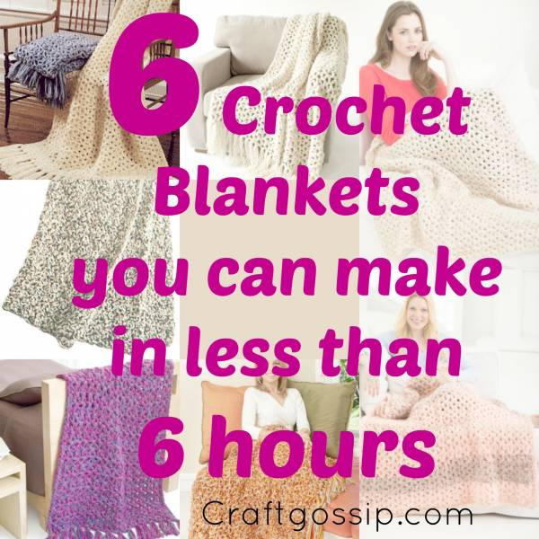 Free Afghan Patterns Crochet Quick Easy : 6 Afghans That Take Less Than 6 Hours To Crochet ? Crochet