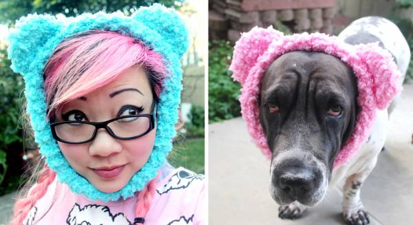 Teddy Bear Ear Warmer For Dogs Or You