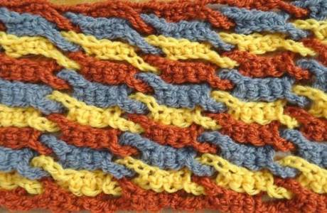 Free Crochet Video – Single Weave and Link Stitch