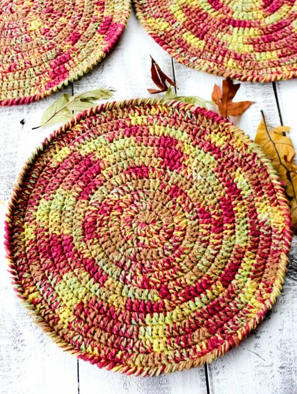 Fall Coaster Crochet Pattern