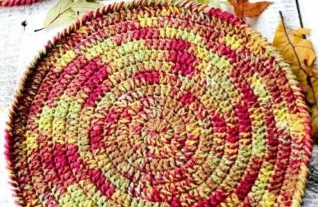 Fall Coaster Crochet Pattern