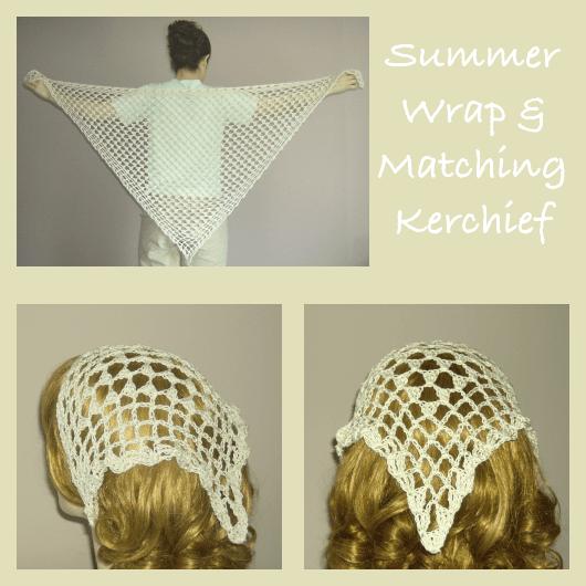 Crochet Summer Wrap and Matching Kerchief ~ FREE Crochet ...