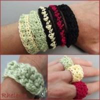 Bead Stitch Bracelet and Ring