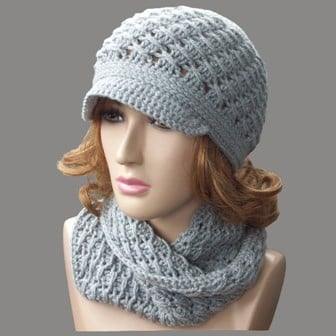 Free Crochet Fox Cowl Hat Pattern : Cross-Over Long DC Cowl ~ FREE Crochet Pattern