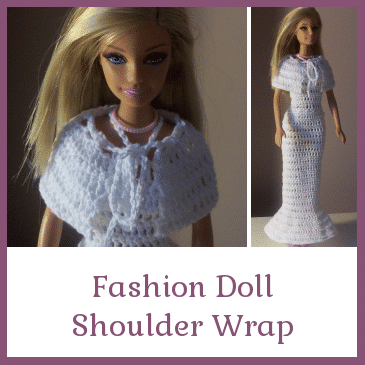 Crochet Pattern For Doll Sling : Fashion Doll Shoulder Wrap ~ FREE Crochet Pattern
