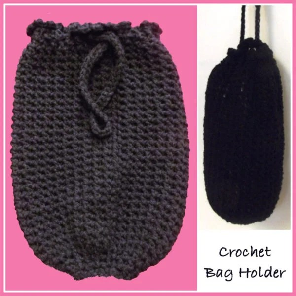 Crochet Bag Holder ~ FREE Crochet Pattern
