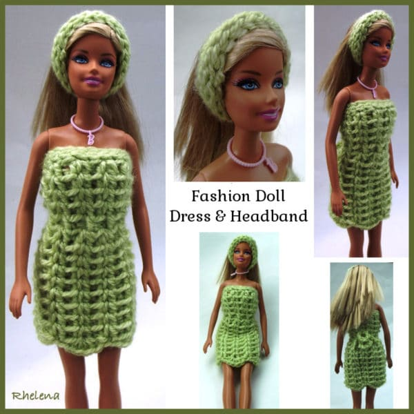 Fashion Doll Dress and Headband