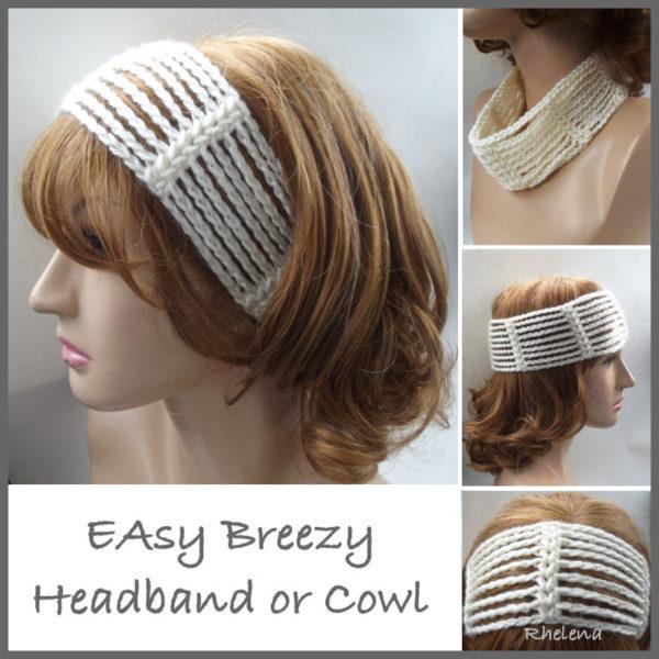 Easy Breezy Headband or Cowl ~ FREE Crochet Pattern