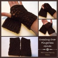 Crossing Over Fingerless Gloves