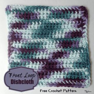 Front Loop Dishcloth ~ FREE Crochet Pattern