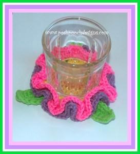 Spring Flower Coaster ~ Sara Sach - Posh Pooch Designs