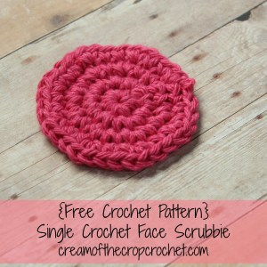 Single Crochet Face Scrubbie ~ Cream Of The Crop Crochet