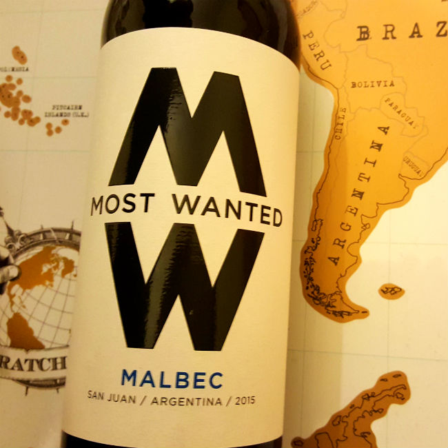 square photo of most wanted wines bottle of malbec