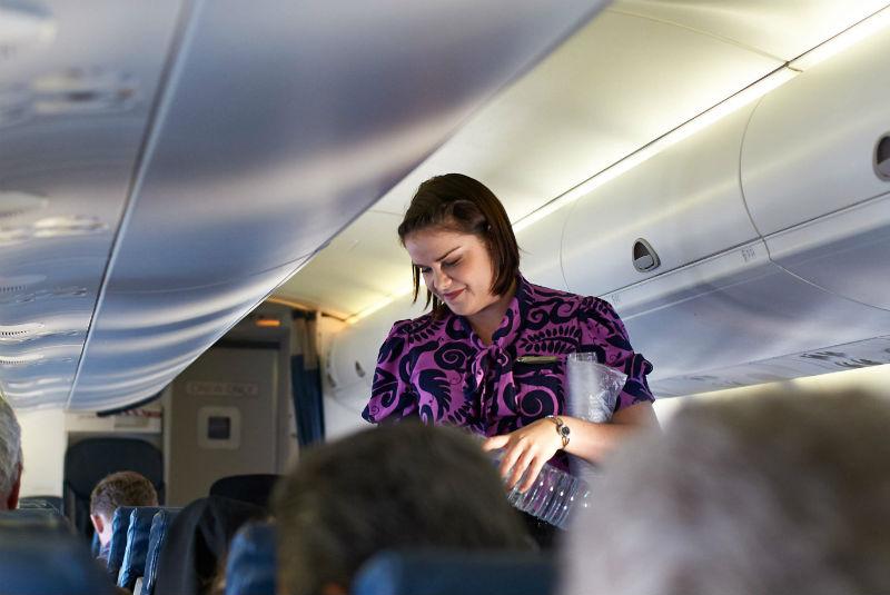 air new zealand flight attendant via flickr