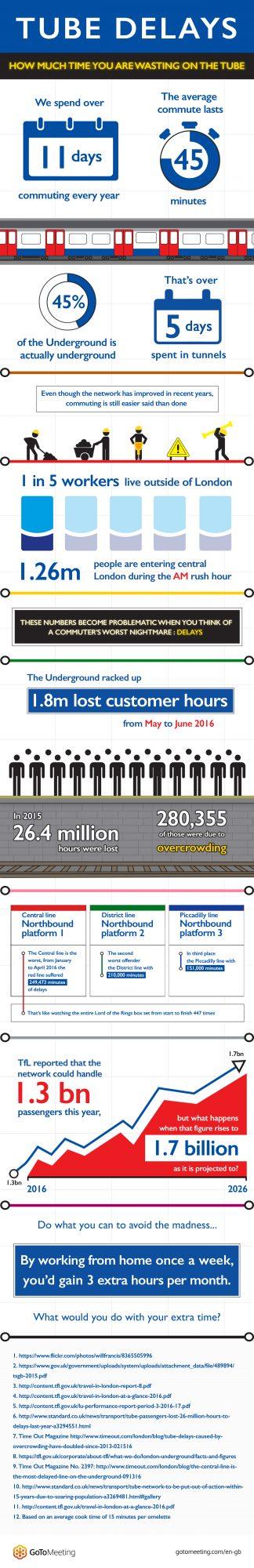 Citrix tube delays - Infographic