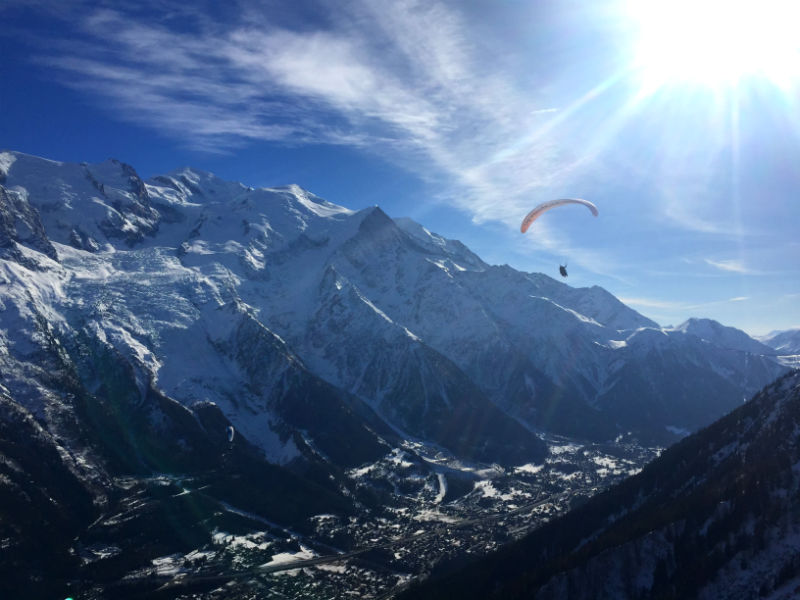 parasailing chamonix france eileen cotter wright