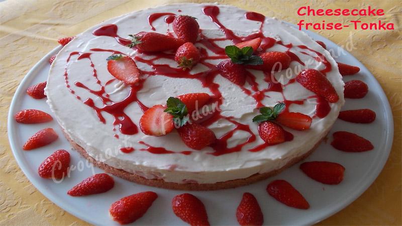 Cheesecake fraise-Tonka