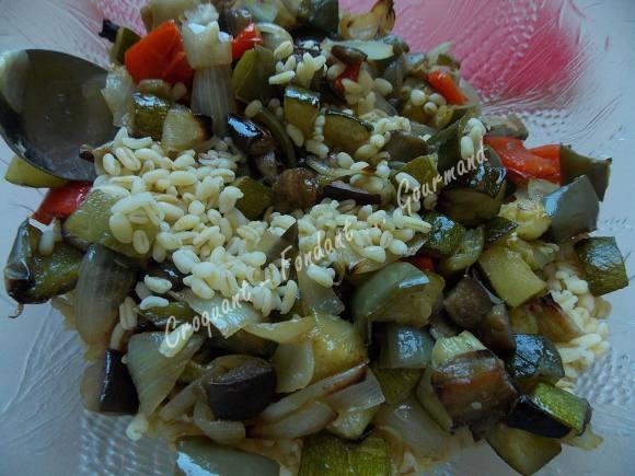 Salade de blé au poulet et légumes confits DSCN5105