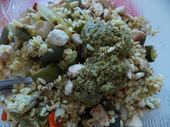 Salade de blé au poulet et légumes confits DSCN5106