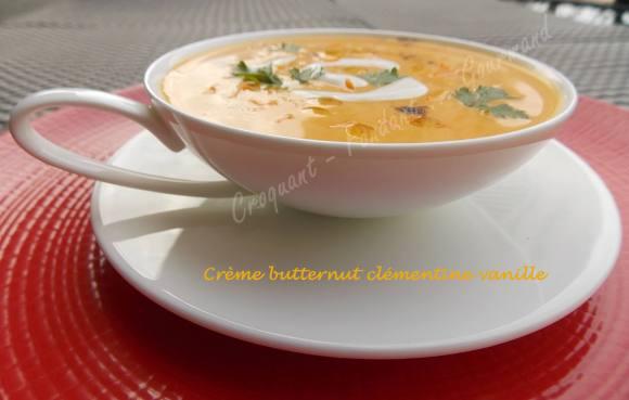 Crème butternut clémentine vanille DSCN2229