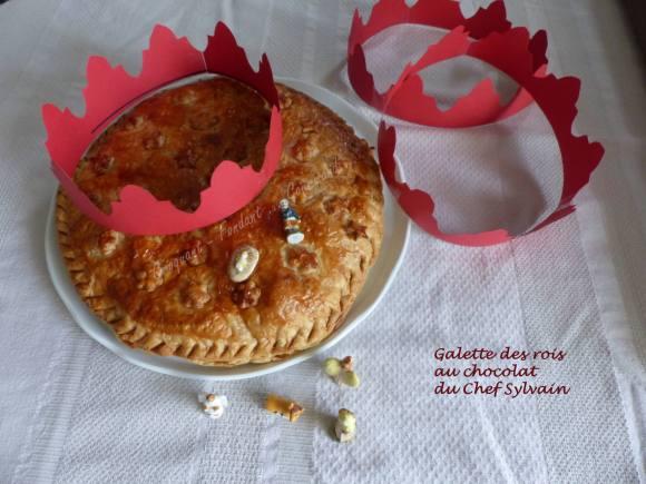 Galette des rois au chocolat du Chef Sylvain P1000666