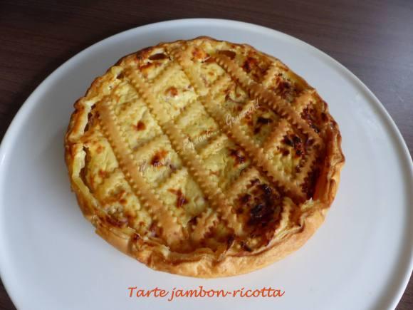 Tarte jambon-ricotta P1010094