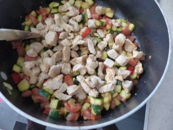 Pâtes aux légumes de l'été P1030642