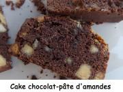 Cake chocolat-pâte d'amandes Index DSCN5114