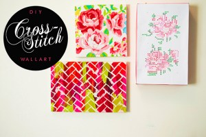 DIY CRPSS STITCH WALL ART