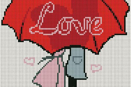 Love Is Hiding Under An Umbrella