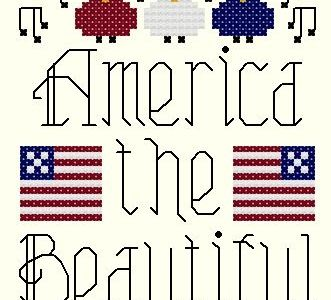 4th Of July Cross Stitch Chart