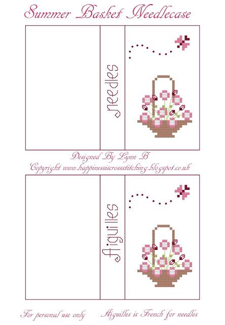 Cross stitch Needlecase freebie designed by Lynn B