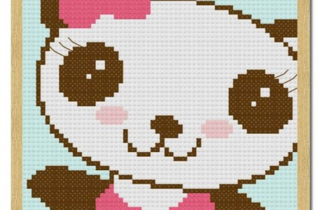 Free Cutie Bear Cross-Stitch Chart