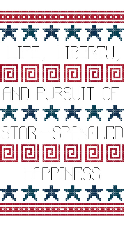 star spangled happiness cross sitthc chart