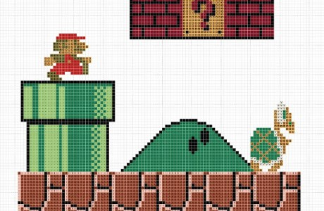 Awesome Super Mario Brothers Cross Stitch Patterns