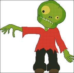 Free Cross Stitch Chart – Halloween Monster
