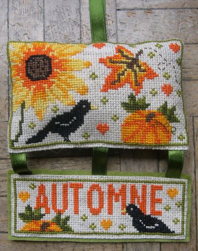 autumn cross stitch design