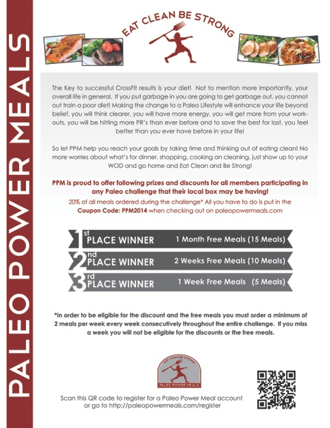 Thank you Paleo Power Meals! You guys rock!