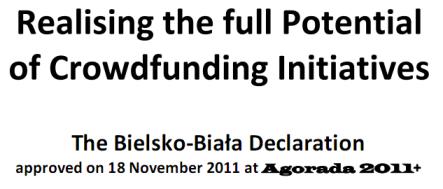 bielsko biala declaration crowdfunding