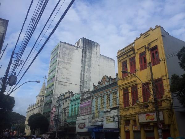 Im Vorübergehen gesehen. Die schönen alten Häuser von Salvador.