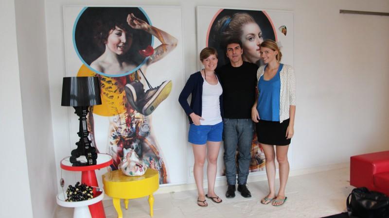 Wir treffen den Künstler Lucio Carvalho in seiner fancy Wohnung in Sao Paulo.