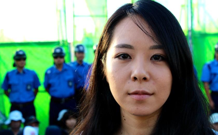 Demonstrantin Maki