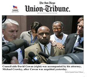 San Diego Union-Tribune photo-caption about Michael Crowley