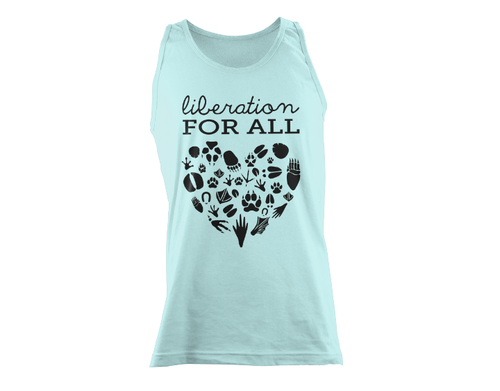 Animal LIberation For All Vegan Unisex Tank