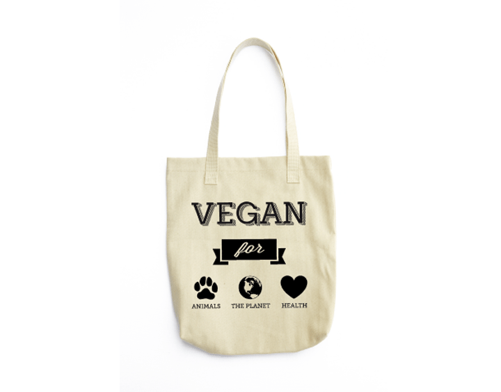 animals planet health vegan tote