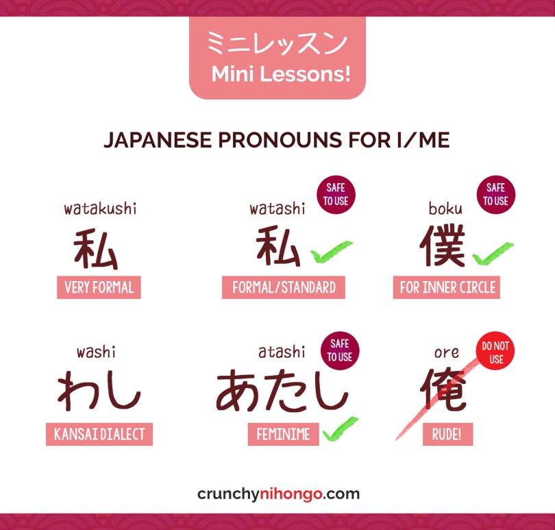 differentiate-japanese-pronouns-watashi-boku-ore-atashi-washi
